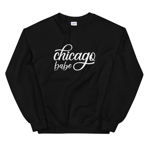 Black Chicago Babe Sweatshirt