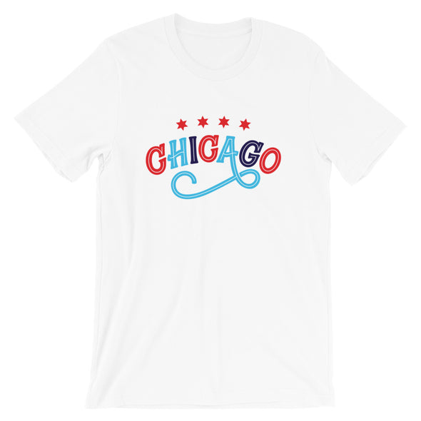 White Chicago Swirl T-Shirt