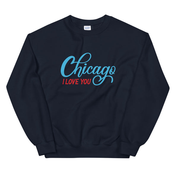 Navy Chicago I Love You Sweatshirt