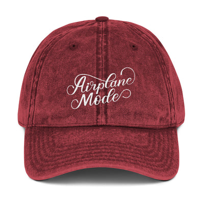 Red Airplane Mode Vintage Hat