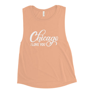 Peach Chicago I Love You Workout Tank Top
