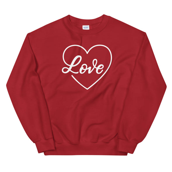 Love Heart Sweatshirt in Red