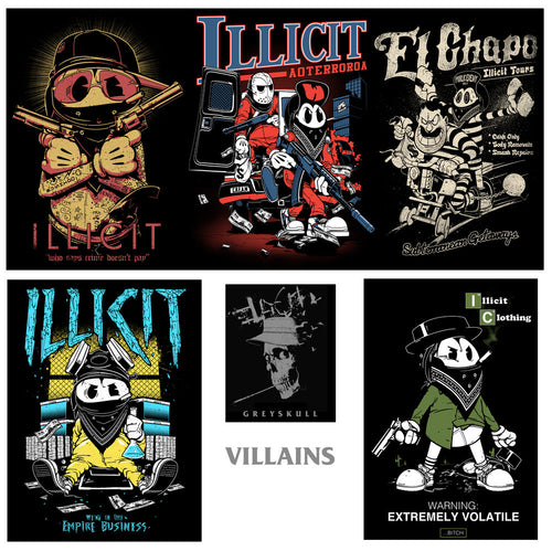 Poster set - Villains