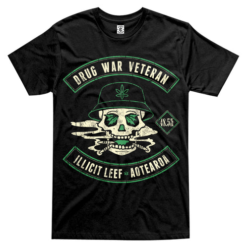 Drug War Veteran Black Tee