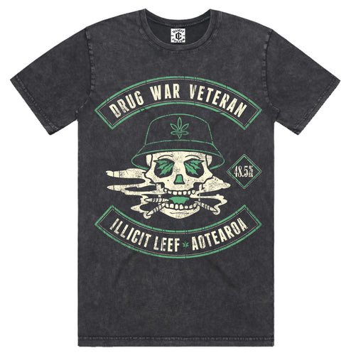 Drug War Veteran Stone Wash Tee