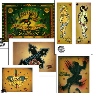 Martin Emond Poster set - Tattoo set 1