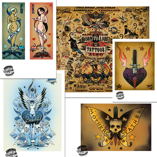 Martin Emond Poster set - Tattoo set 2