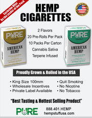 Pure Hemp Cigarettes Packs