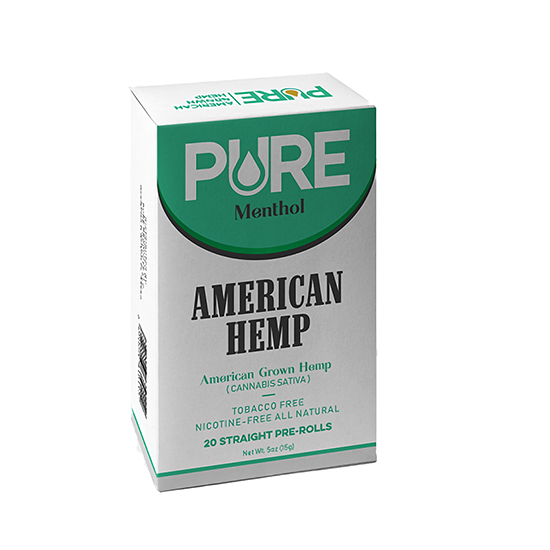 Pure Menthol Hemp Cigarettes - Packet of 20