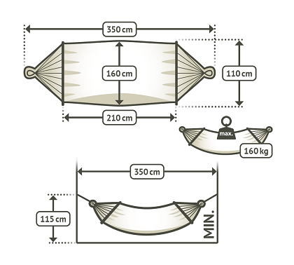 Double spreader bar hammock dimensions