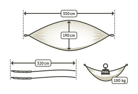 travel double size hammock dimensions