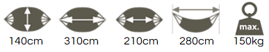 double size hammock dimensions