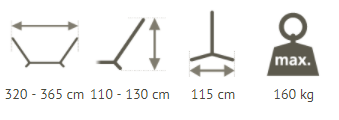 Double Hammock Stand Dimensions
