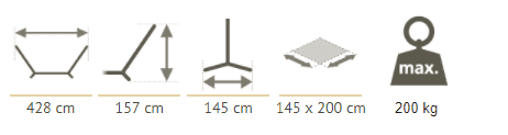 King size hammock stand dimensions
