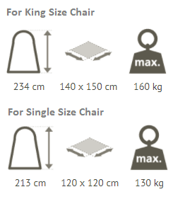 chair hammock stand dimensions