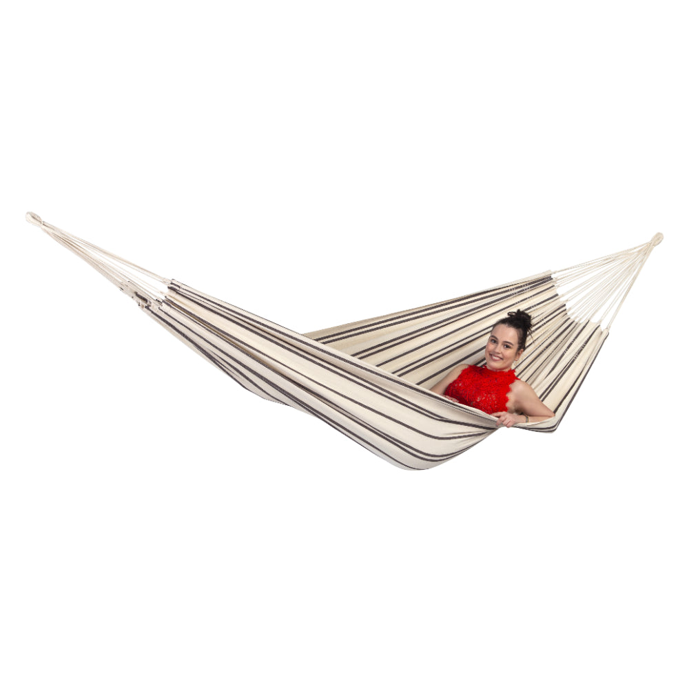 Brazilian Cotton Double Hammock - Cappuccino