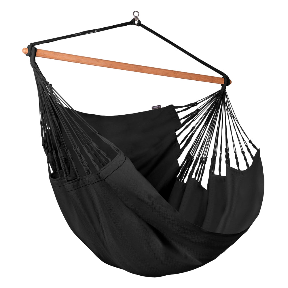 Black Organic Cotton La Siesta Chair Hammock