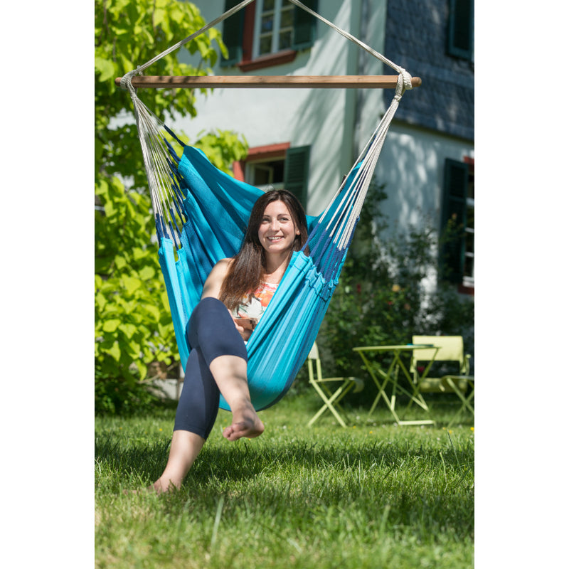 Garden Hammock - Blue Single Chair Style