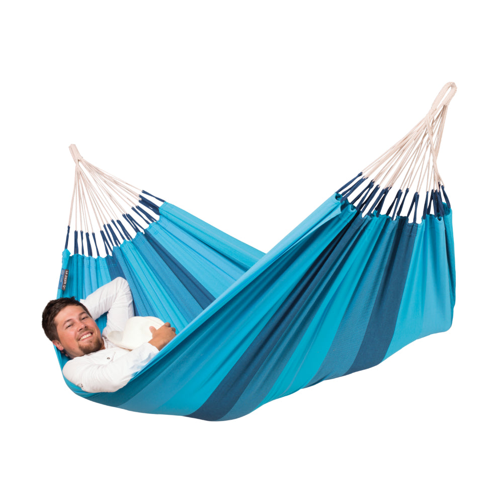 One Person Hammock - Cotton - Blue