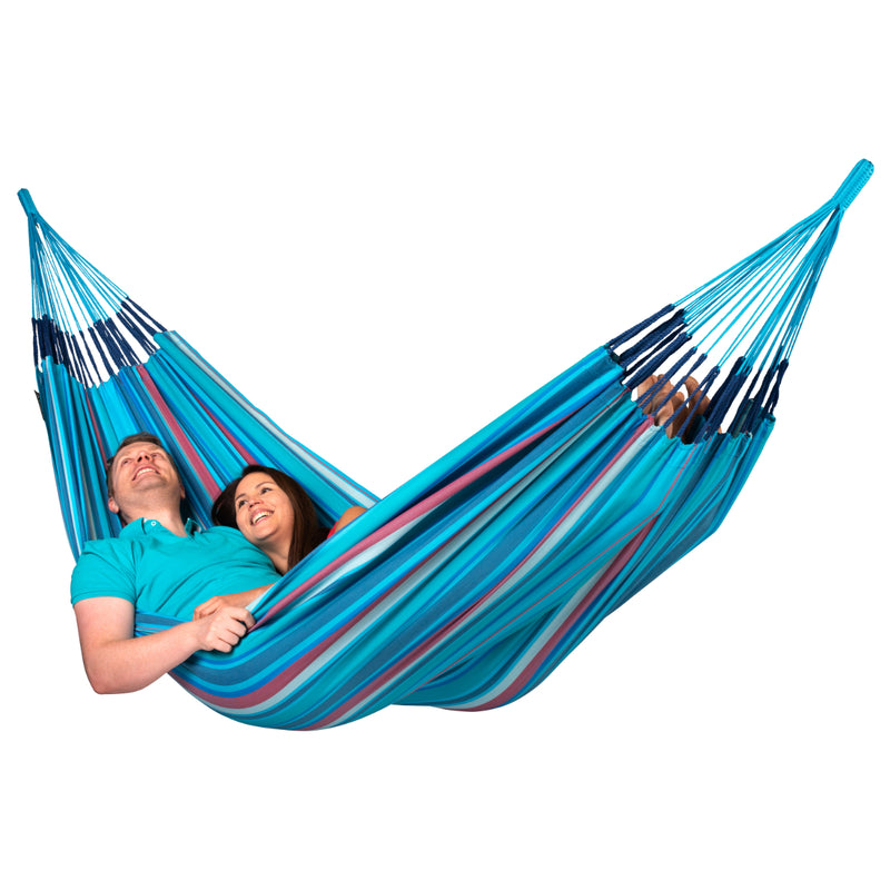 Curved Wooden Hammock Stand & Double Hammock Package