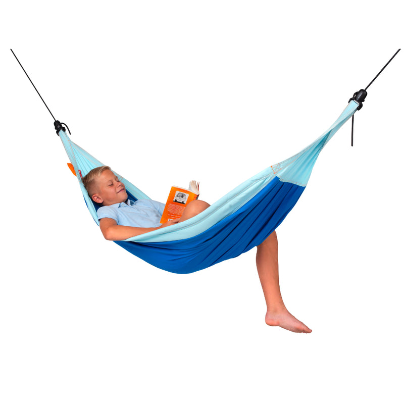 Enclosed suspension ropes hammock for children