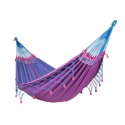 Double Blue Cotton Hammock