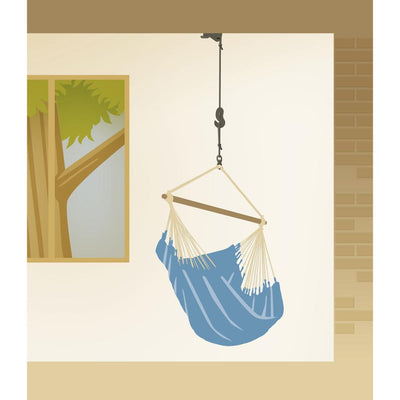 Hanging a hammock chair from the ceiling