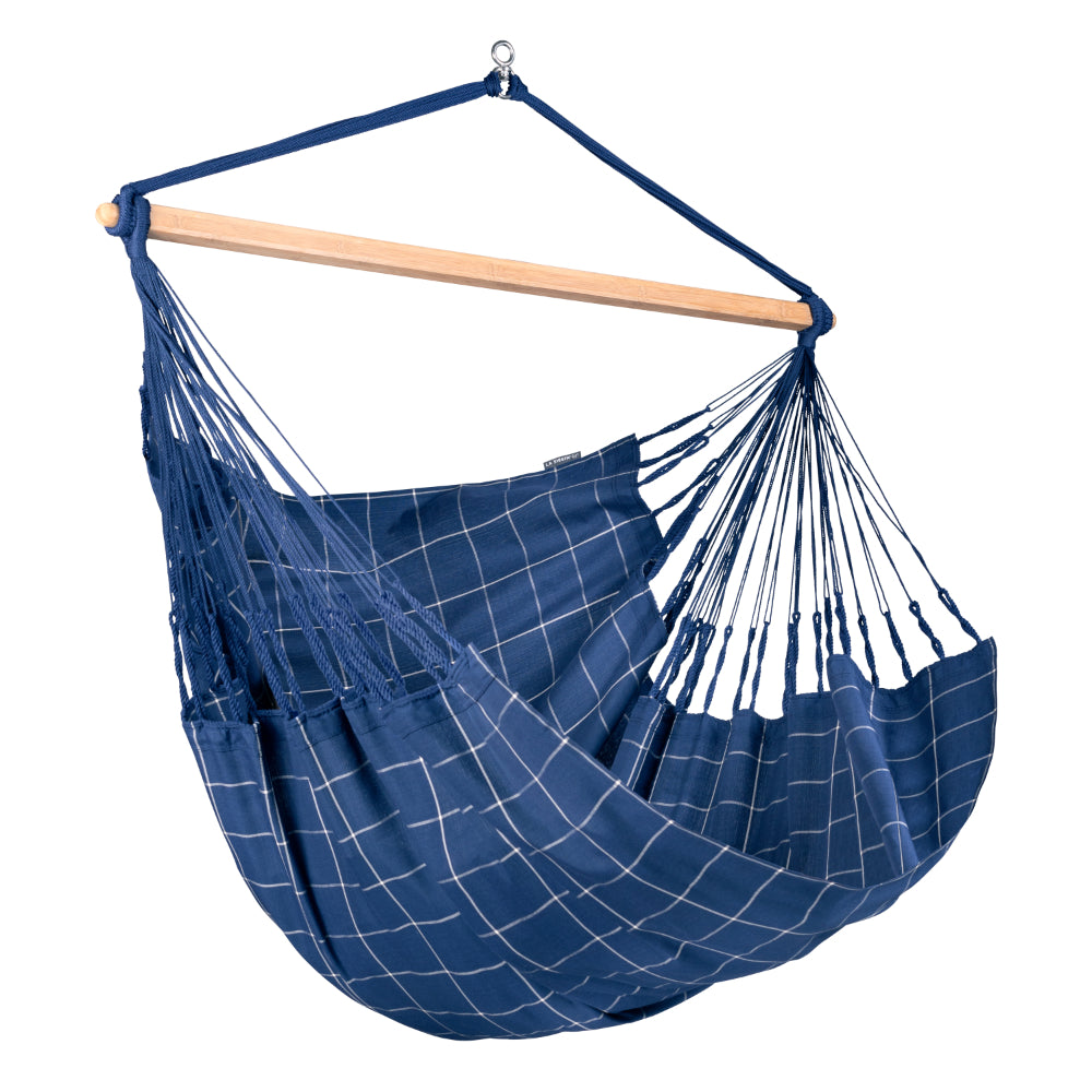 Xl Hammock Chair Blue and White