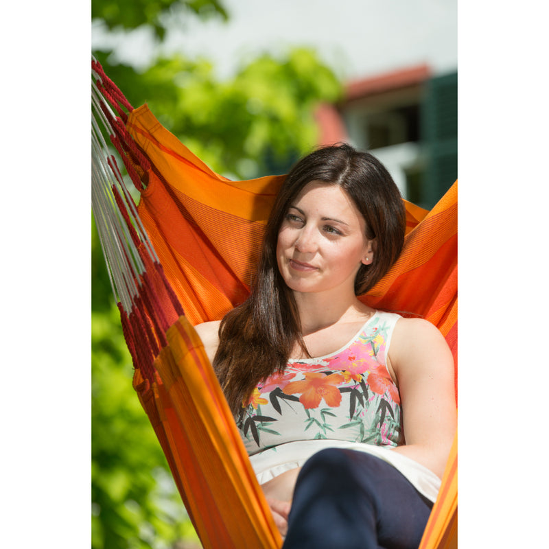 Orange Chair Hammock - Cotton
