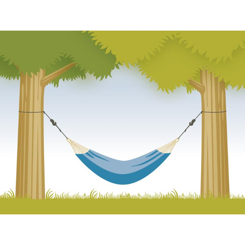 Easy tree hanging kit for hammock