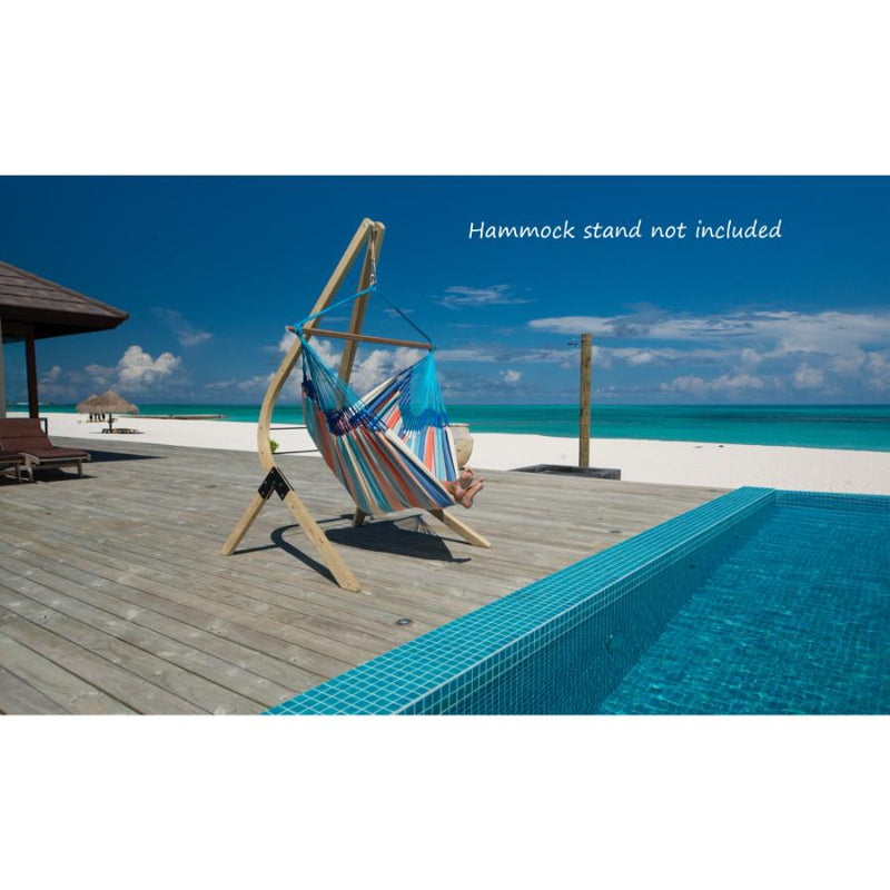 Poolside hammock chair with stand