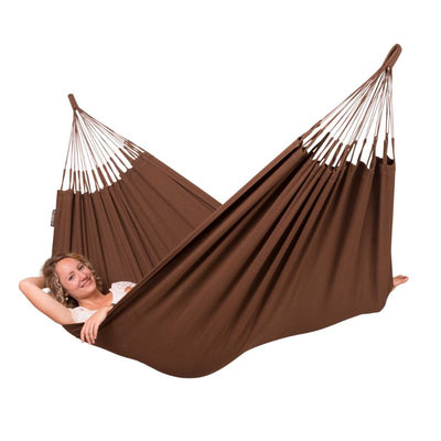 Single size brown cotton hammock