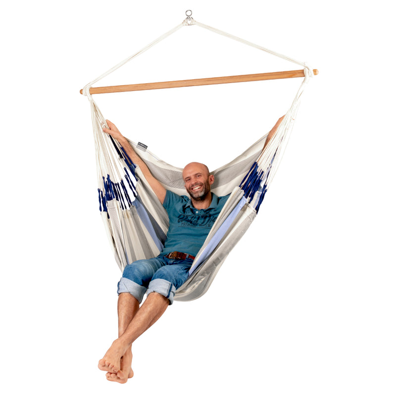 XL Chair Size Hammock - La Siesta - Sea Salt