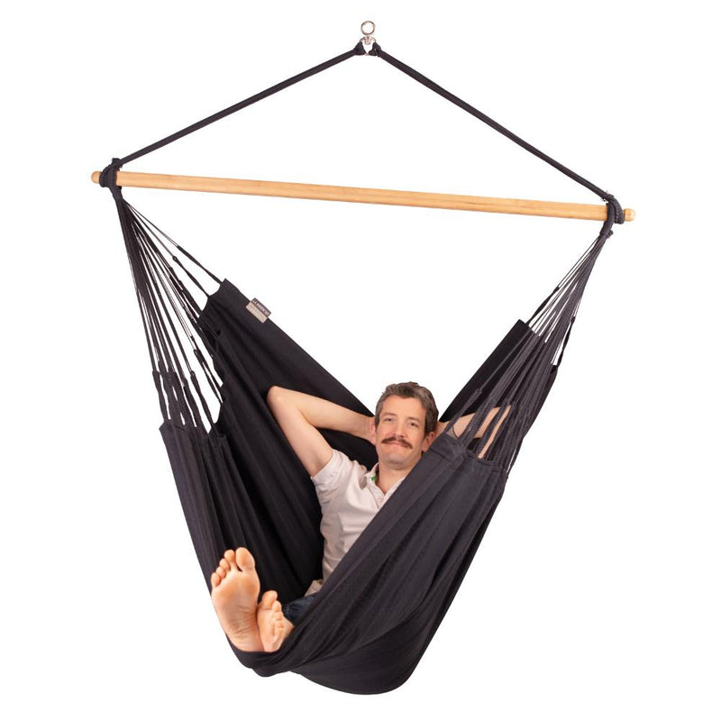 Organic Cotton Chair Hammock in Black