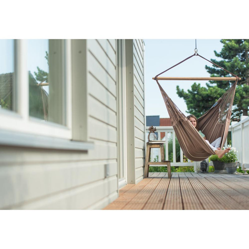 Deck hung hammock chair