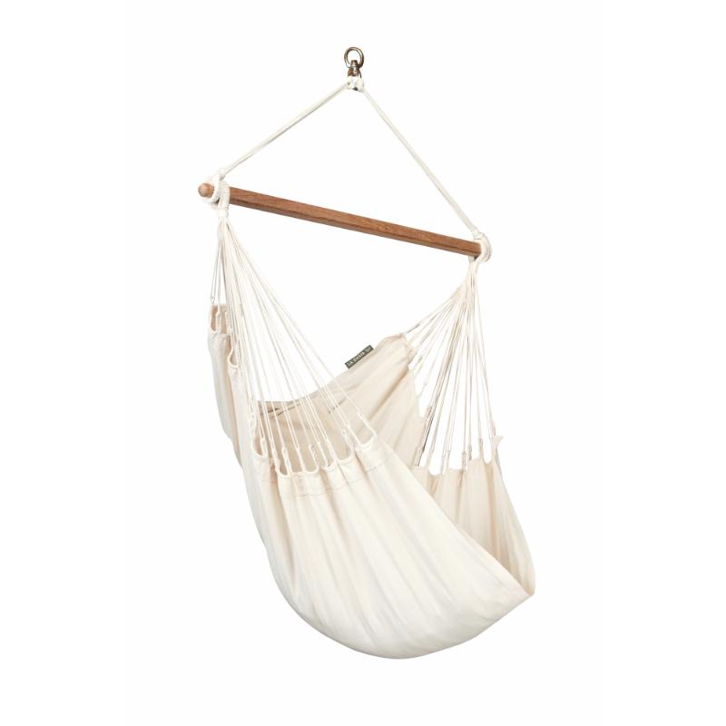 White organic cotton chair hammock