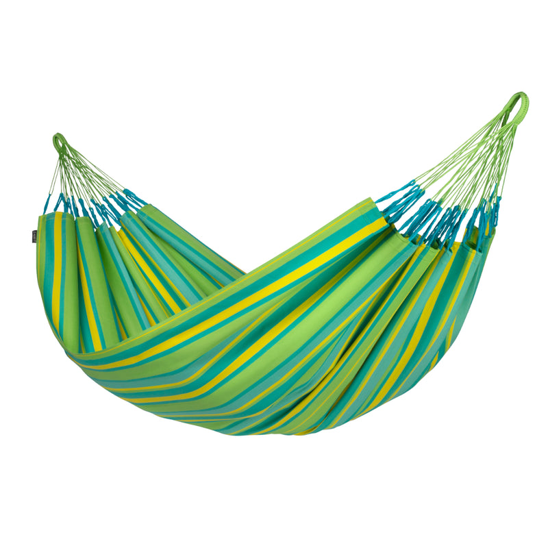 Double size hammock in green and yellow