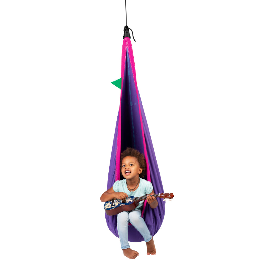 Children's Purple Hanging Nest Chair