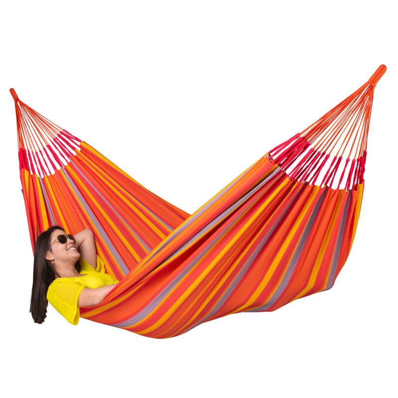 Large fabric hammock - outdoor resistant material