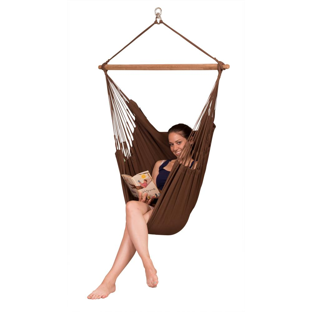 Organic Cotton hammock chair - Arabica brown