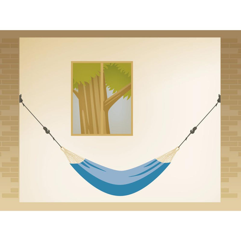 Wall hanging setup for hammock