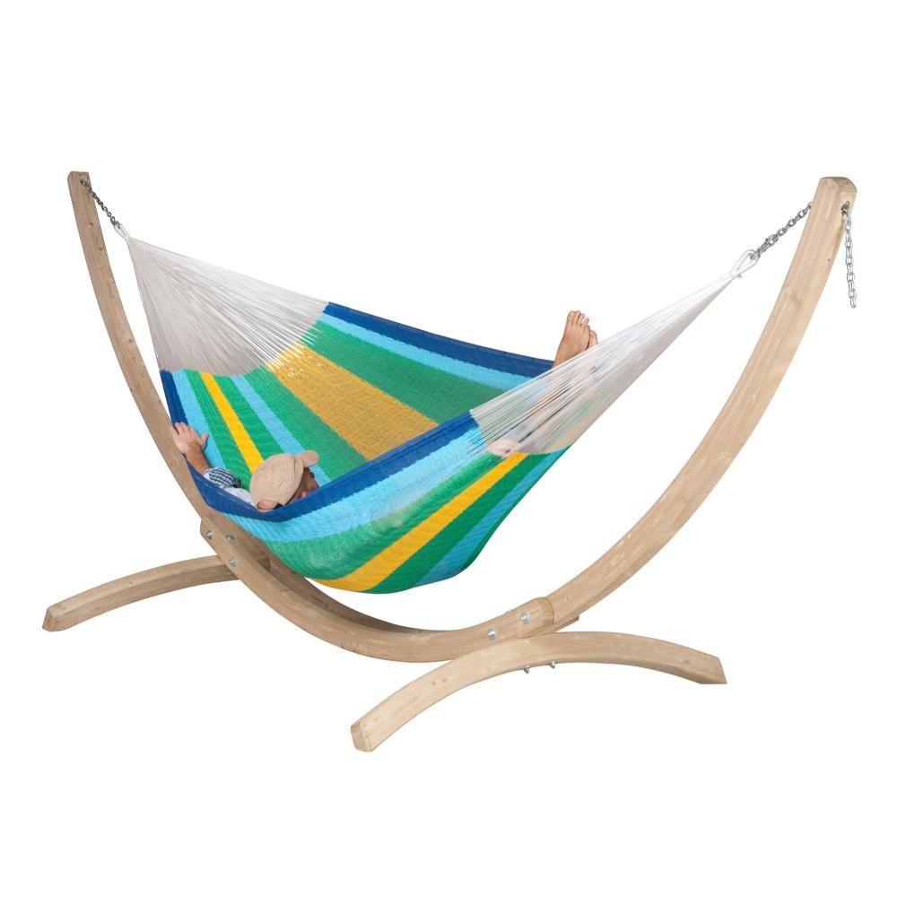 Wooden Hammock Stand and Mexican Hammock