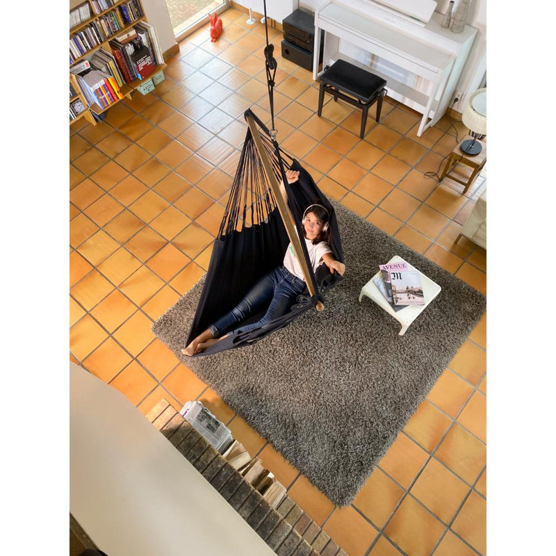 Hammock Chair - XL Size - Organic Cotton - Black