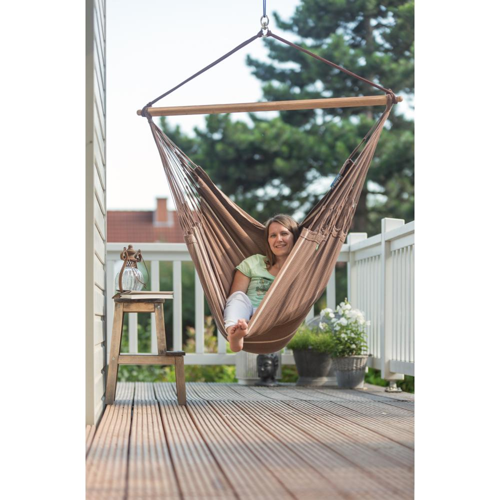 Hammock hanging on deck