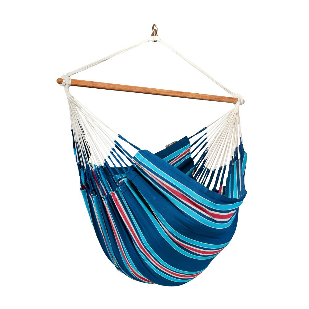 Blueberry coloured hammock chair