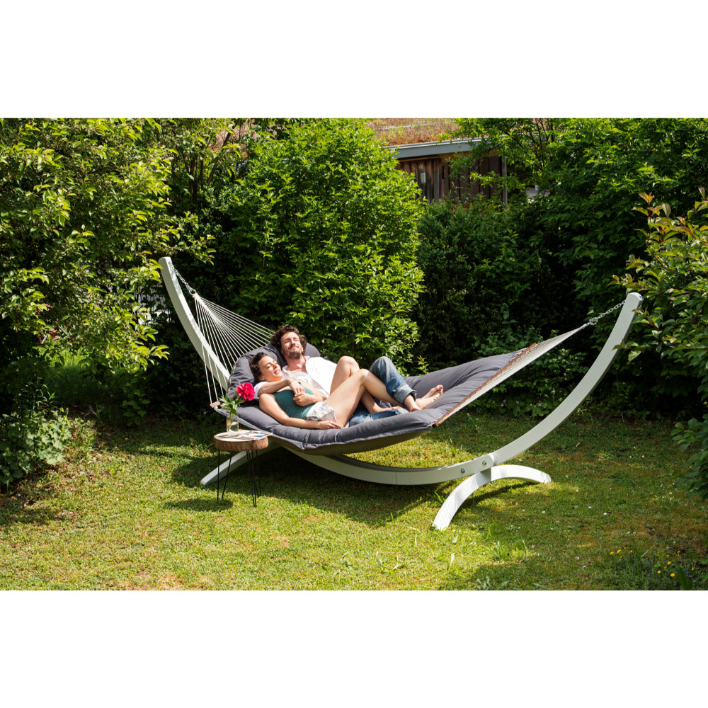 Spreader Bar Hammock - King Size Padded - Taupe