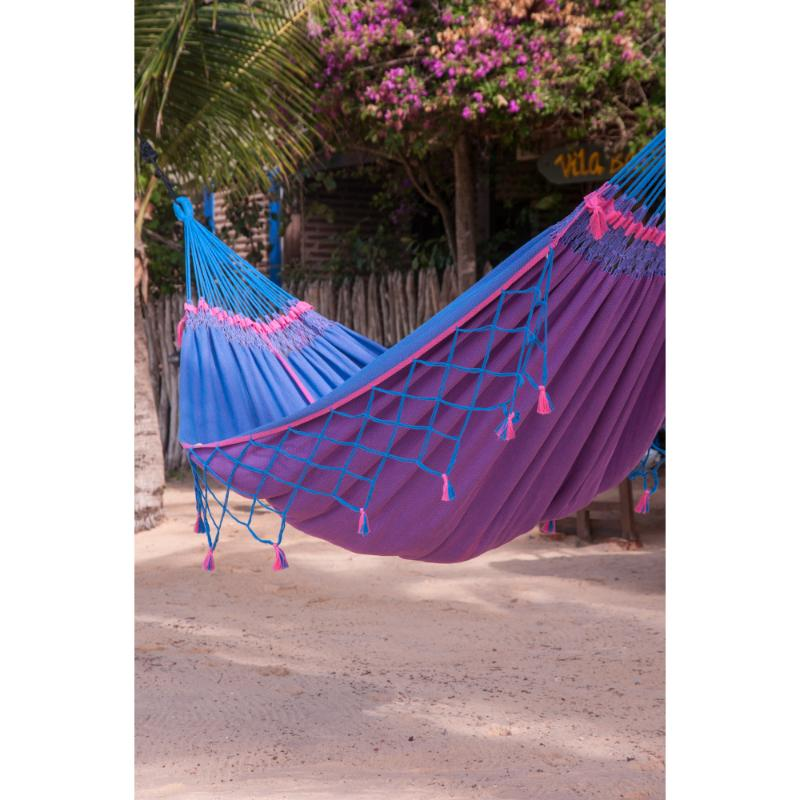 Cotton Blue and Purple Hammock