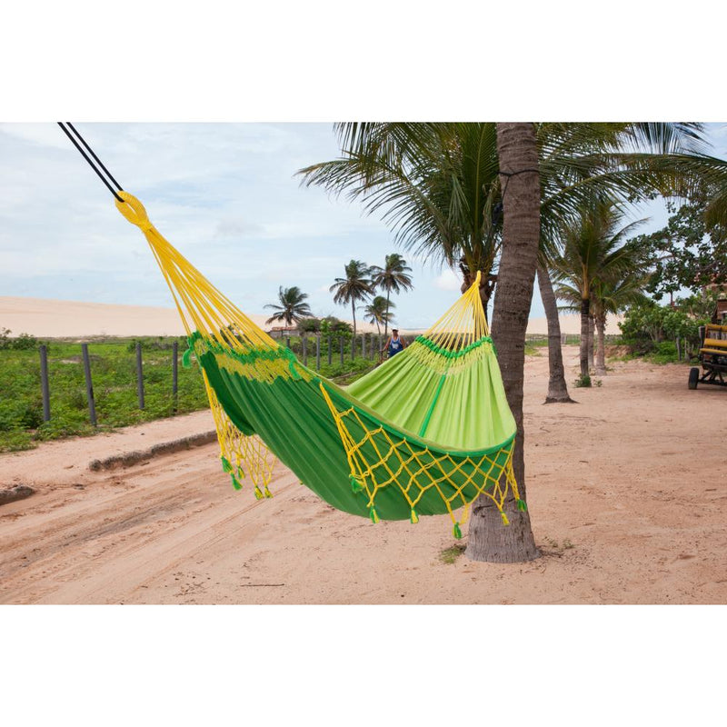 Cotton Brazilian yellow and green hammock