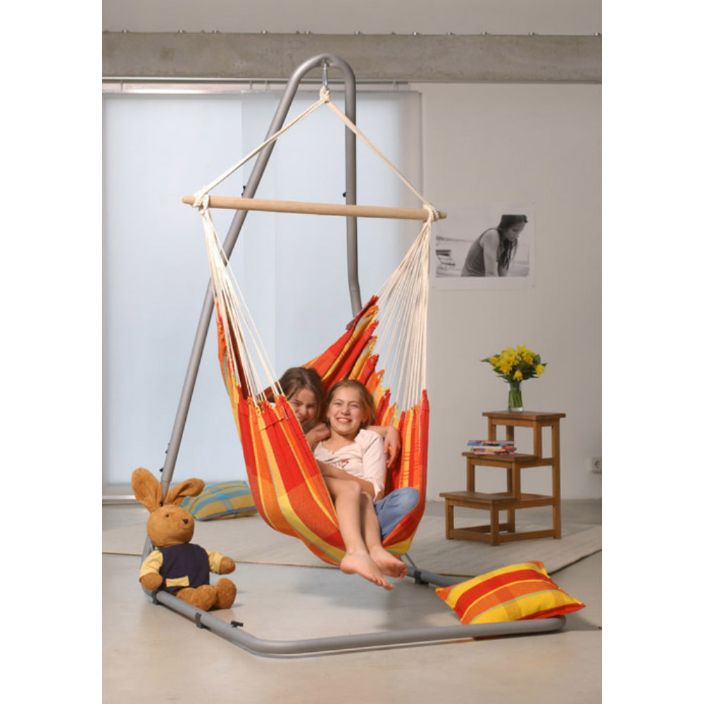 Children enjoying large chair hammock