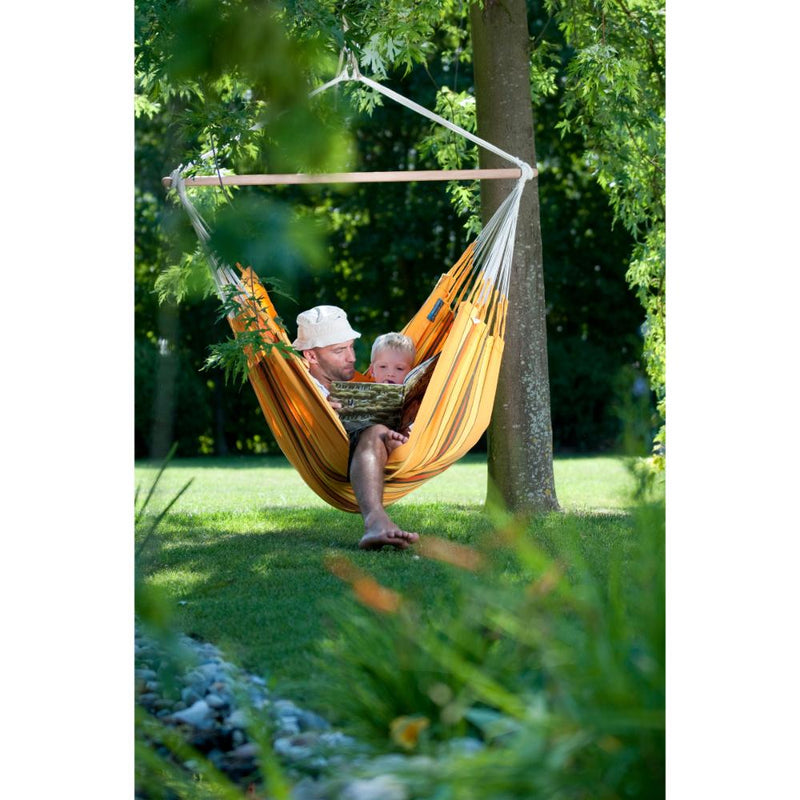 Yellow garden hammock swing chair
